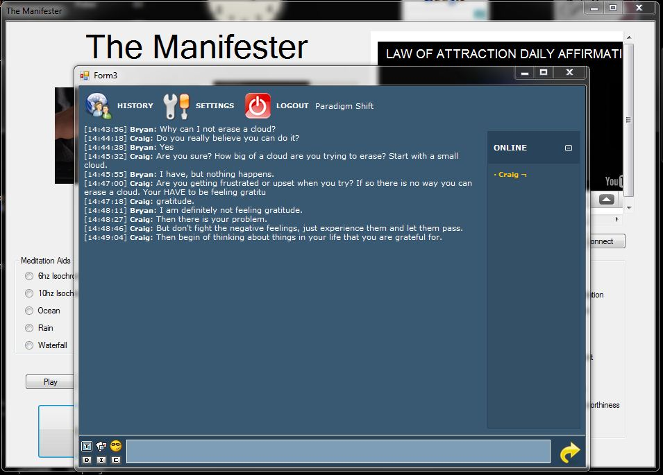 The Manifester Chat